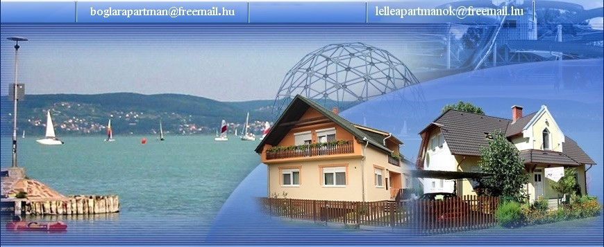 Horv�th apartman Balatonbogl�ron, L�via apartman Balatonlell�n